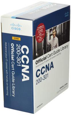 بسته CCNA 200-301 Official Cert Guide Library که علاوه بر دو جلد کتاب شامل فیلم آموزشی، نمونه سوال و سایر موارد نیز هست. بهترین کتاب CCNA