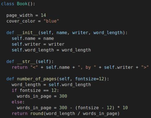در این تصویر کدهای تعریف یک کلاس در پایتون به عنوان مثال برای آموزش مفهوم کلاس در پایتون و آموزش مفهوم کلاس در برنامه نویسی شی گرا آمده است
