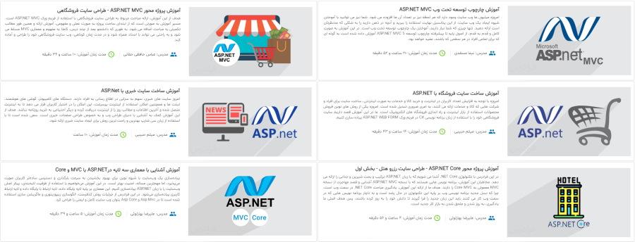 تصویر مربوط به مجموعه فیلم های آموزش ASP.NET فرادرس برای یادگیری برنامهنویسی وب