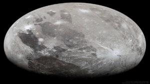 گانیمد از دید جونو — تصویر نجومی