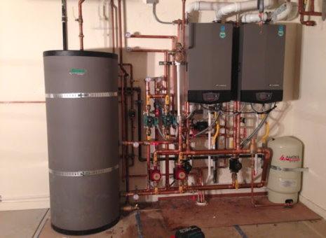 نمونهای از سیستمهای پایپینگ مورد استفاده در ساختمانهای مسکونی (سیستم گرمایشی)