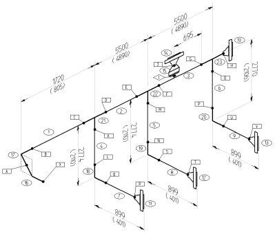 نمونهای از نقشههای ایزومتریک یا IFD
