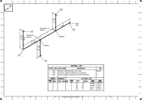 نقشه ایزومتریک پایپینگ