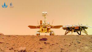 مریخ نورد ژورونگ روی مریخ — تصویر نجومی