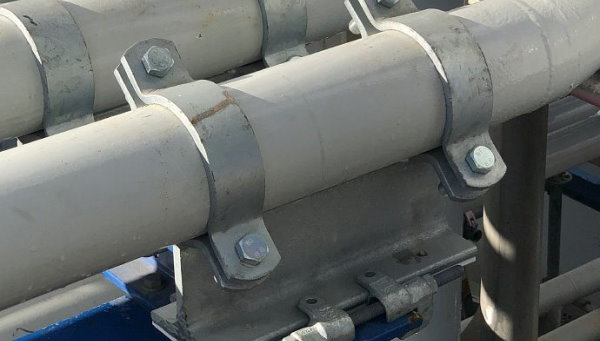 نمونهای از ساپورت مورد استفاده برای نگهداری لوله