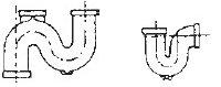 سیفون P (تصویر راست) و سیفون S (تصویر چپ)