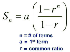 finite geometric series