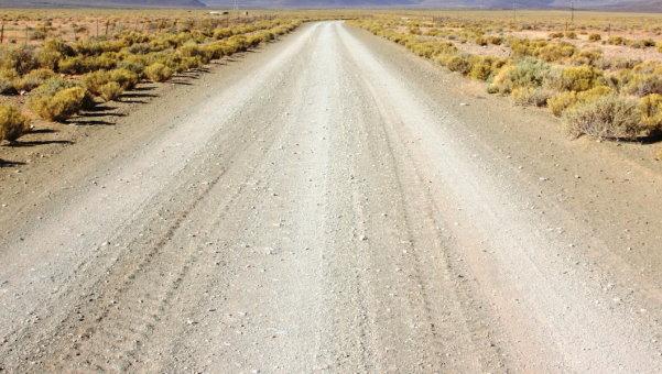 نمونهای از یک جاده شنی