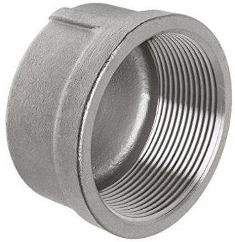 نمونهای از یک کپ دایرهای رزوه دار از جنس فولاد نرم