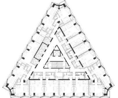 ستون گذاری در پلان مثلثی