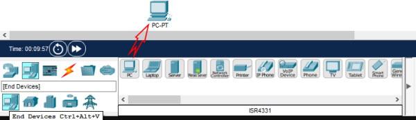 تصویر مربوط به بخش افزودن دستگاه به شبکه در رابط کاربری نرم افزار Cisco Packet Tracer در آموزش نرم افزار سیسکو پکت تریسر