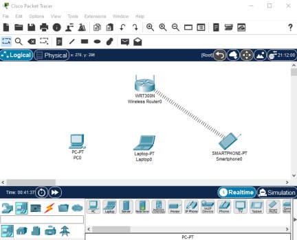 تصویر افزودن دستگاه های انتهایی مثل موبایل لپ تاپ و پی سی به شبکه در پکت تریسر | آموزش نرم افزار Cisco Packet Tracer در مجله فرادرس