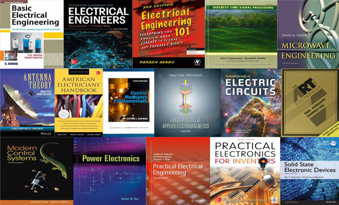 کتاب هایی که هر مهندس برق باید بخواند — فهرستی از ۱۶ عنوان برتر