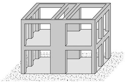 سیستم قاب خمشی و دیوار برشی بتن آرمه
