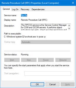 سرویس RPC در ویندوز که با نام RpcSs در svchost.exe اجرا می شود. | RPC چیست