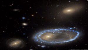 کهکشان حلقه ای AM 0644-741 — تصویر نجومی
