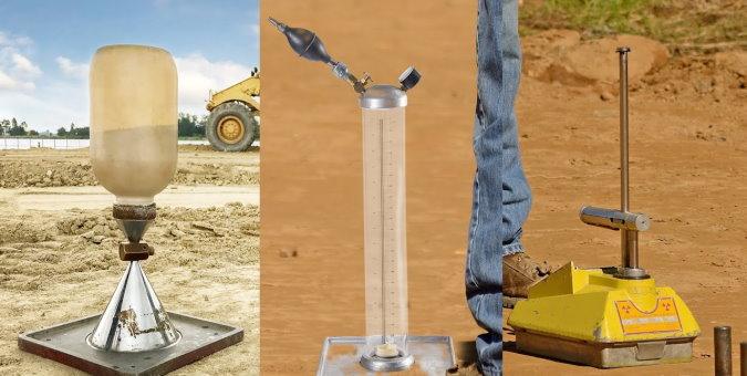 آزمایش های تراکم خاک