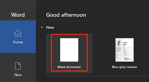 آموزش میل مرج در ورد - گزینه Blank Document