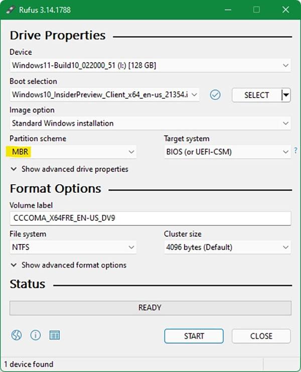 نصب ویندوز 11 - نرمافزار Rufus