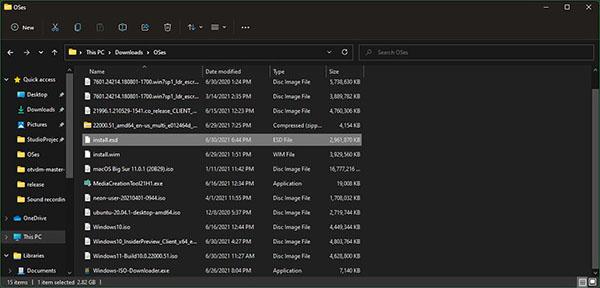 نصب ویندوز 11 - فایل esd نهایی