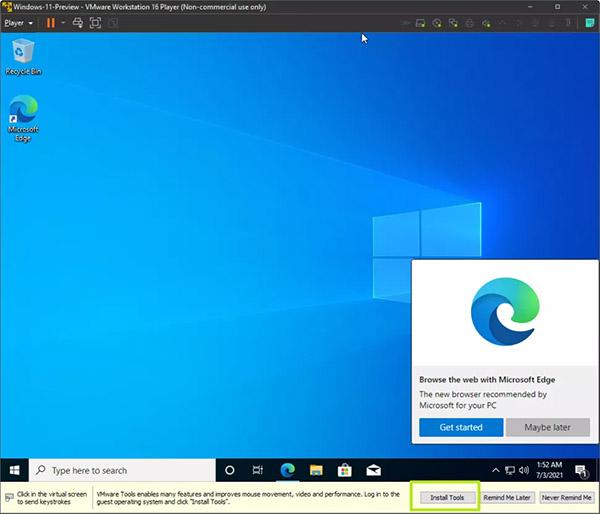 نصب ویندوز 11 روی ماشین مجازی - گام 10
