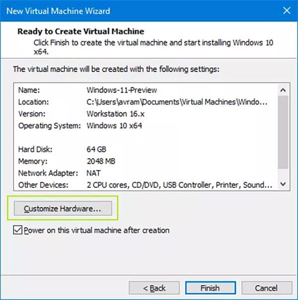نصب ویندوز 11 روی ماشین مجازی - گام 5
