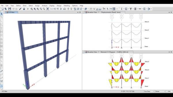 مدلسازی و تحلیل قاب خمشی در نرم افزار ایتبس