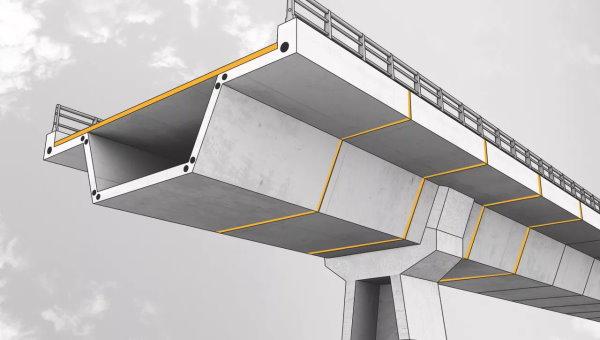استفاده از بلوکهای پیش ساخته بتن آرمه برای اجرای عرشه پل