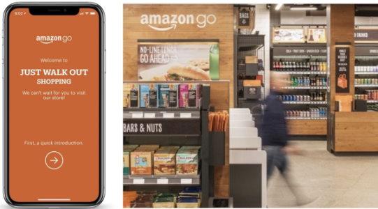 تصویر اپلیکیشن پرداخت در سوپر مارکت Amazon Go به عنوان یک ایده برای برنامه نویسی موبایل