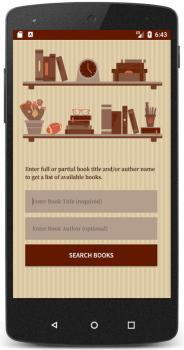 تصویر نمونه جهت ایده برای برنامه نویسی اپلیکیشن جستجوی کتاب