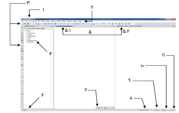 رابط کاربری نرم افزار ETABS