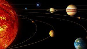 نیروی گرانش اجرام منظومه شمسی — تصویر نجومی
