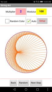 تصویر نمونه از ایده برای برنامه نویسی اپلیکیشن String Art