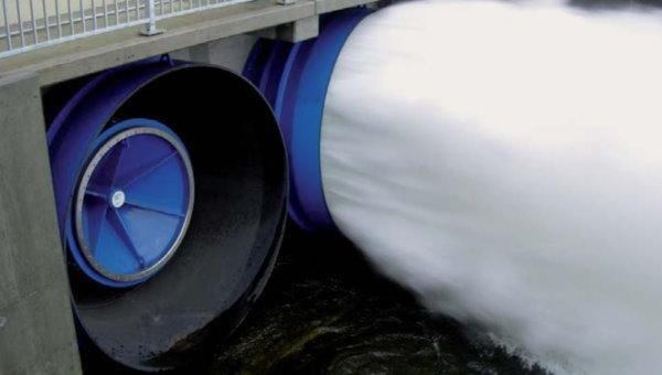 تنظیم آب مخزن سد توسط شیر مخروط ثابت از انواع ولو در حالت باز و بسته