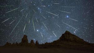 شب بارش شهابی برساوشی — تصویر نجومی