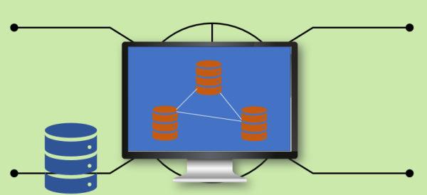 تصویری نمادین برای یک پایگاه داده رابطه ای در مقاله بانک اطلاعاتی چیسا برای آموزش بانک اطلاعاتی