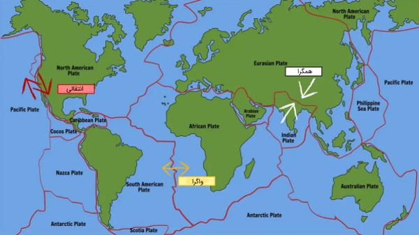 نقشه صفحات تکتونیکی