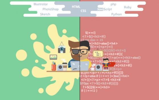 تفاوت طراح وب و برنامه نویس وب به خوبی در این تصویر گرافیکی نمایش داده شده است   برنامه نویسی وب چیست