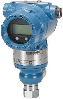 نمونهای از یک دستگاه ترانسمیتر فشار روزمونت با قابلیت اندازهگیری فشار گیج یا نسبی و فشار مطلق