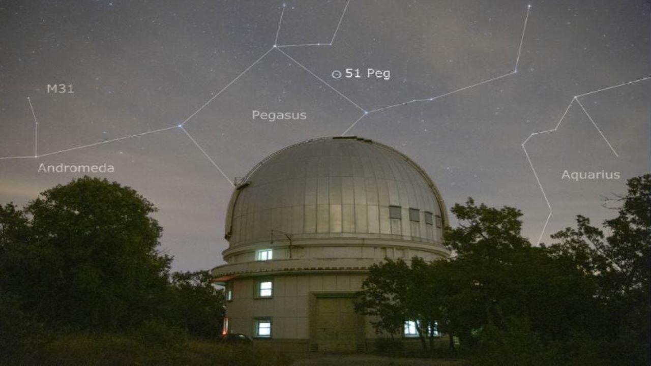 ۵۰ سال نوری تا ستاره ۵۱ پگاسی — تصویر نجومی