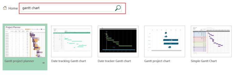 جستجوی قالبهای آماده نمودار گانت در اکسل برای مدیریت زمان پروژه