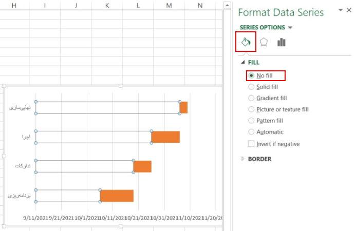 حذف رنگ پس زمینه دادهها در اکسل