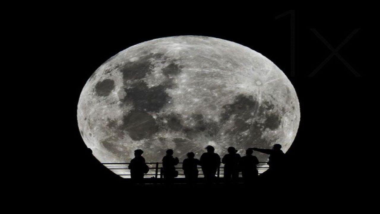 سایه نماهای ماه کامل — تصویر نجومی