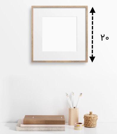 مثال قاب عکس مربعی شکل