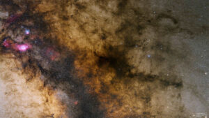 راه شیری از سحابی مرداب تا سحابی پیپ — تصویر نجومی