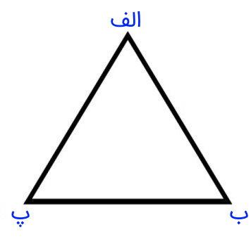 مثال مثلث متساوی الاضلاع با طول ضلع 5
