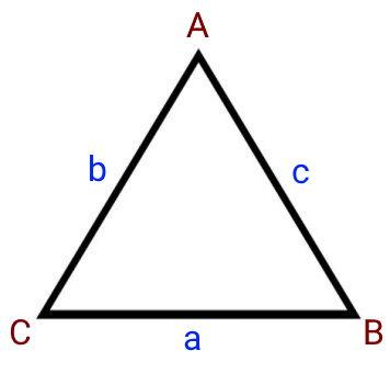 یک مثلث با پارامترهای طول ضلع