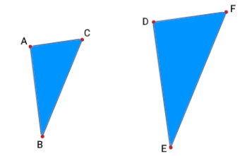 مثال مساحت مثلث متشابه