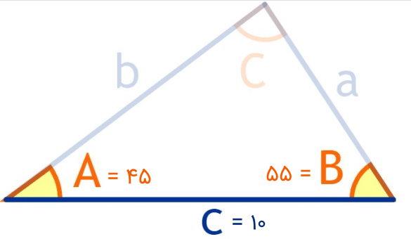 مساحت مثال مثلث ز ض ز
